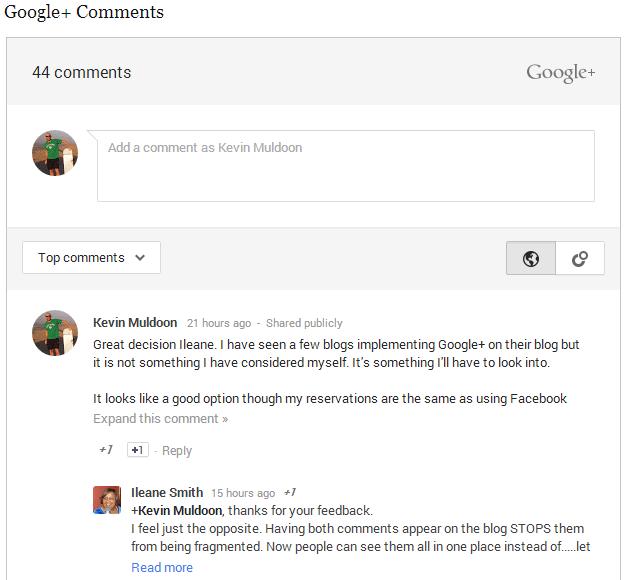 Google Plus Comments