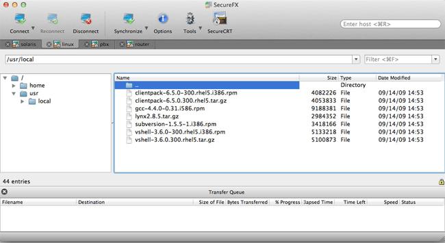 SecureFX FTP Client