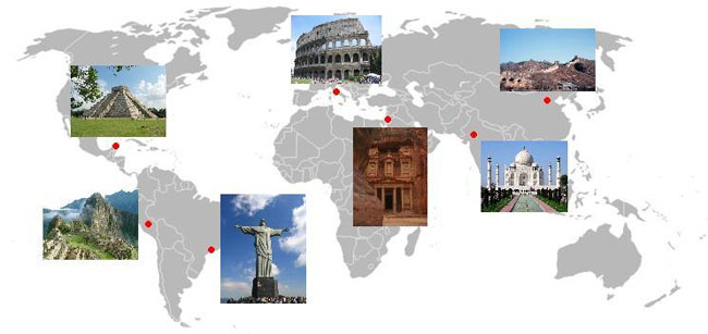 Visit the Seven Wonders of the World