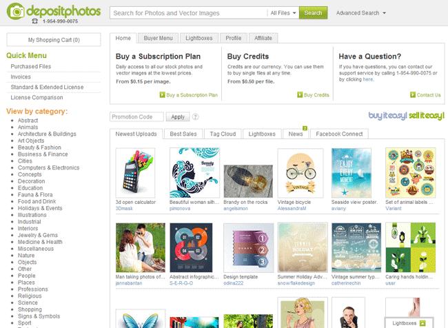 Despositphotos Home Page