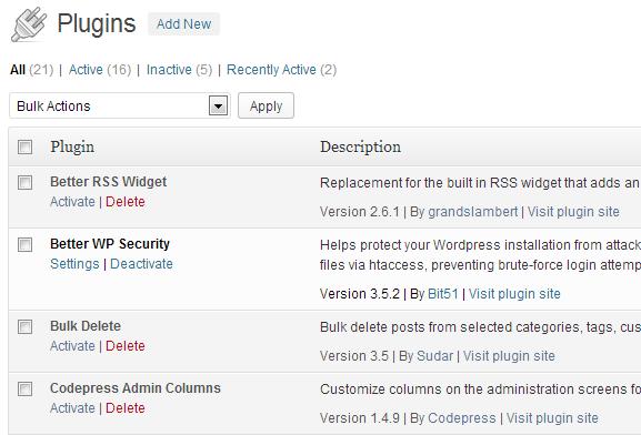 Reviewed Plugins