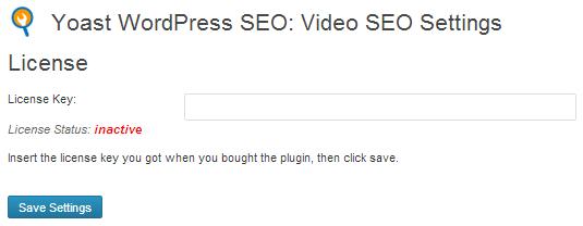 Video SEO for WordPress License