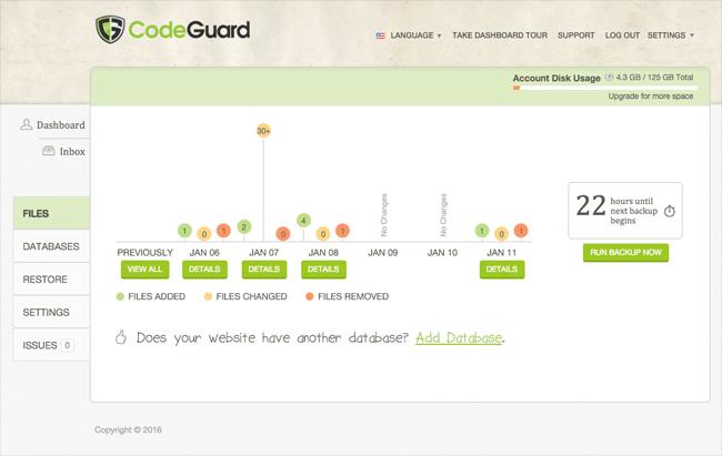 CodeGuard Dashboard