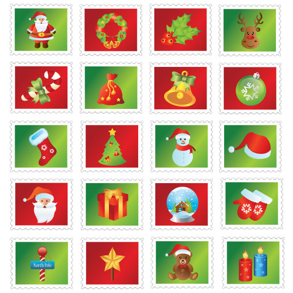 Christmas Stamp Icons