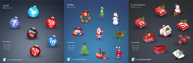 Lovely & Free Christmas Icons""