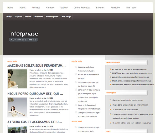 InterPhase WordPress Theme