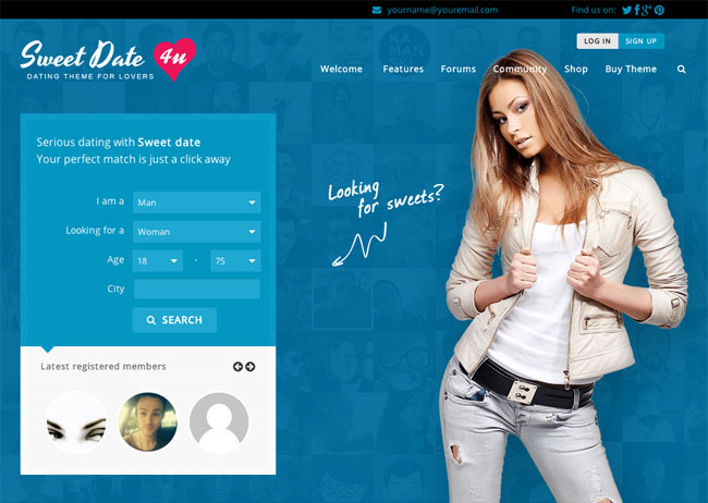Free speed dating website template