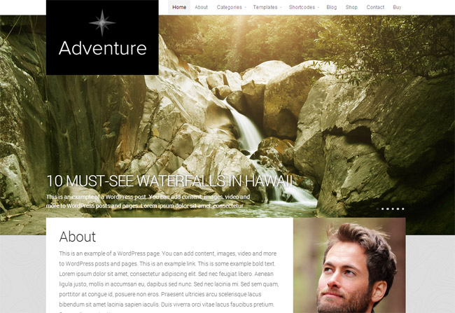 Adventure WordPress Theme