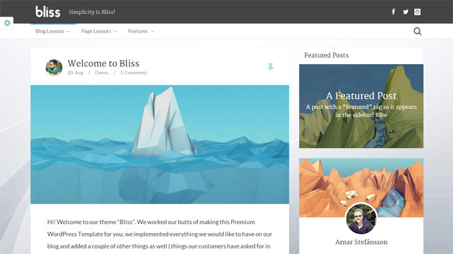 Bliss WordPress Theme