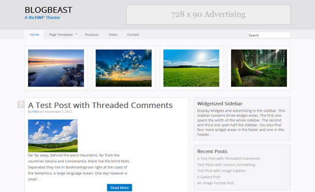 BlogBeast WordPress Theme