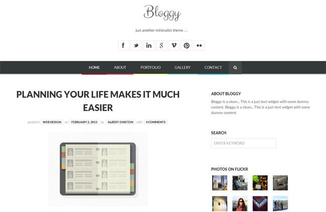 Bloggy WP WordPress Theme
