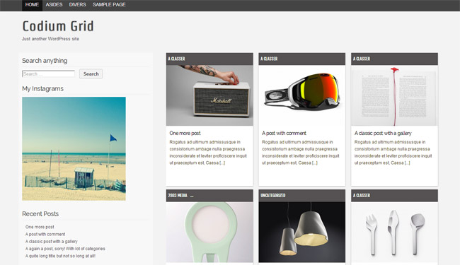 Codium Grid WordPress Theme