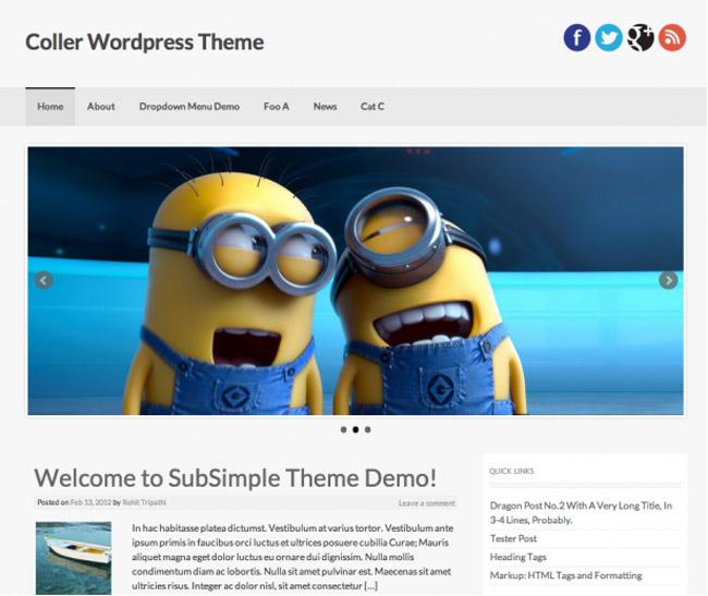 Coller WordPress Theme