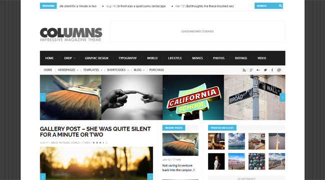 Columns WordPress Theme