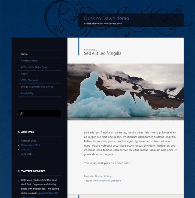 Dusk to Dawn WordPress Theme