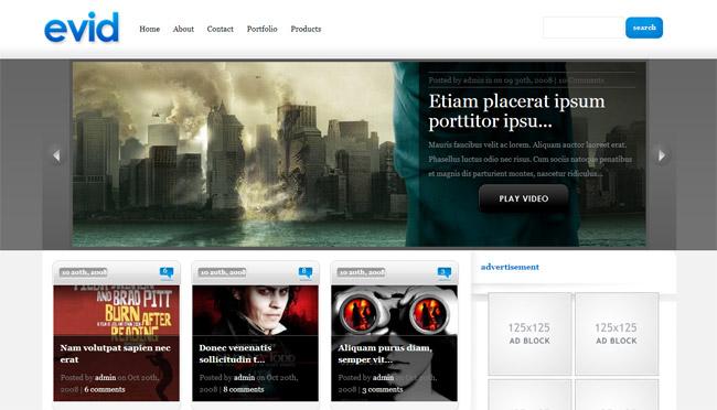 eVid WordPress Theme