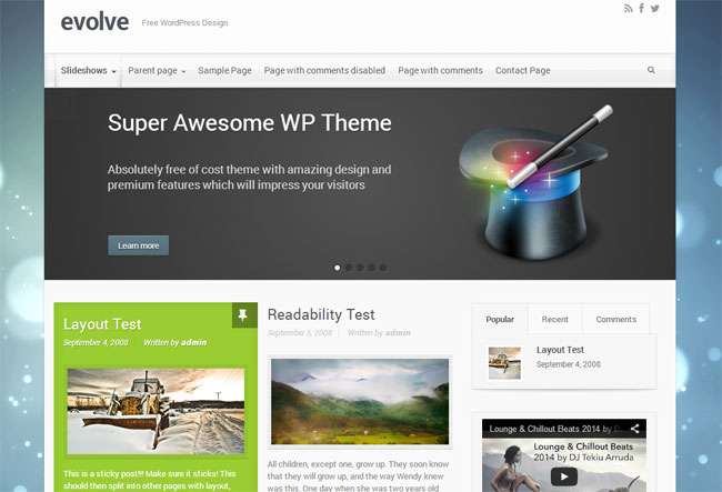 evolve WordPress Theme