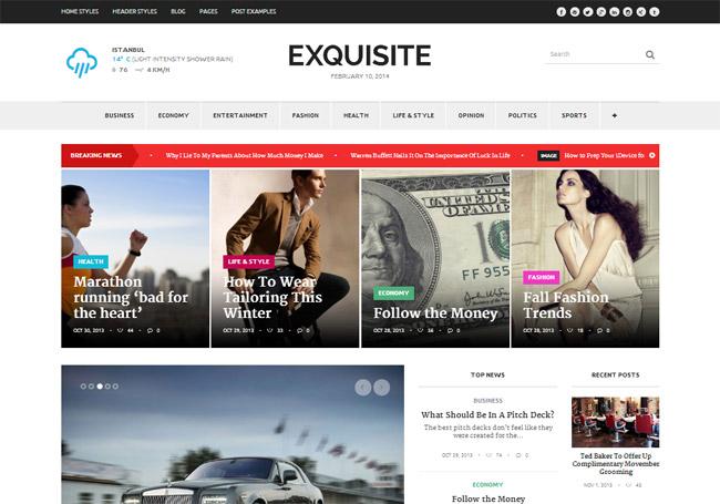 Exquisite WordPress Theme