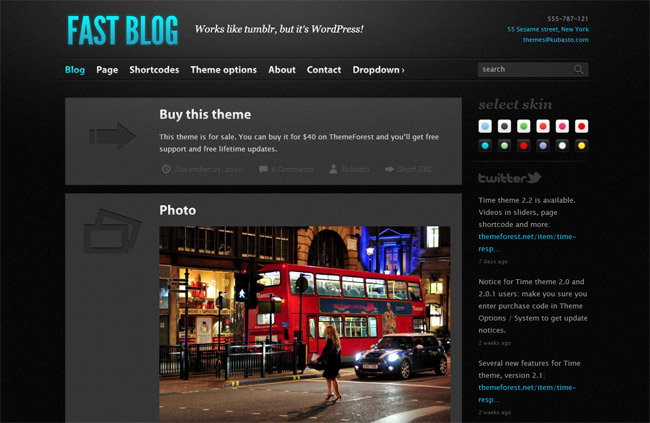 Fast Blog WordPress Theme
