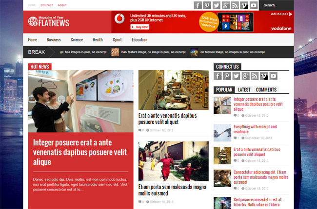Flat News WordPress Theme