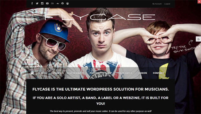 Flycase WordPress Theme