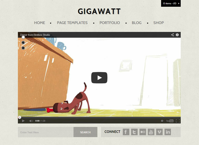 Gigawatt WordPress Theme