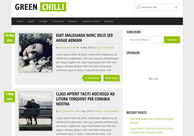 GreenChili WordPress Theme