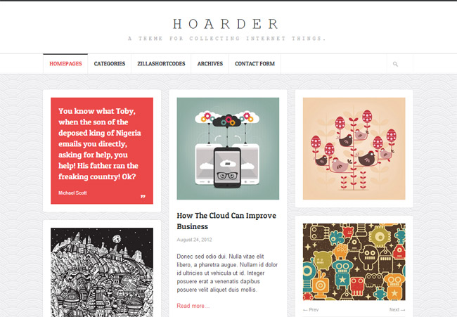 Hoarder WordPress Theme
