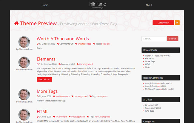 Infinitano WordPress Theme