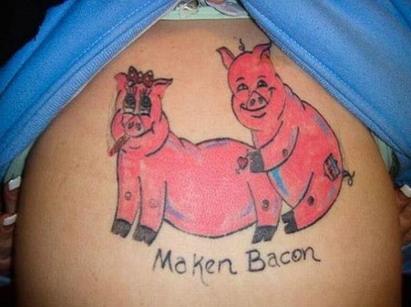 Maken Bacon Bad Tattoo