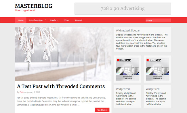 The MasterBlog WordPress Theme