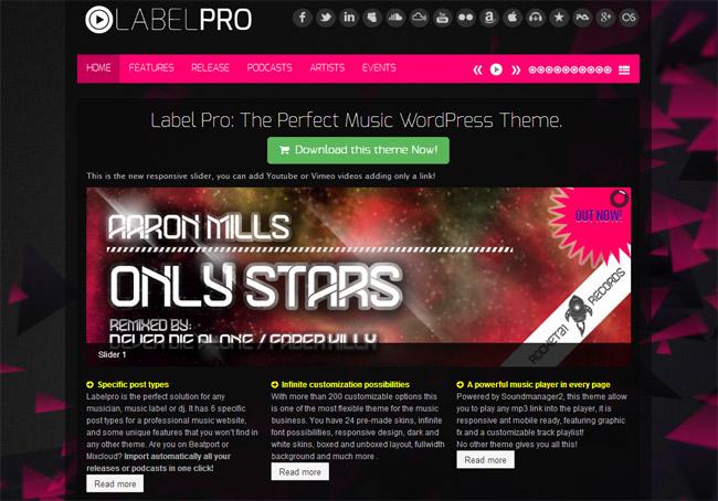 Music Label Pro WordPress Theme