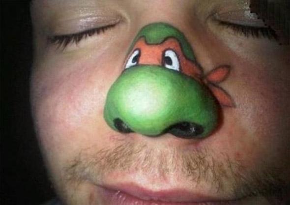 Michelangelo Ninja Turtle Bad Tattoo