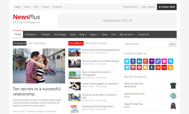 NewsPlus WordPress Theme