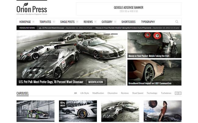 Orion Press WordPress Theme