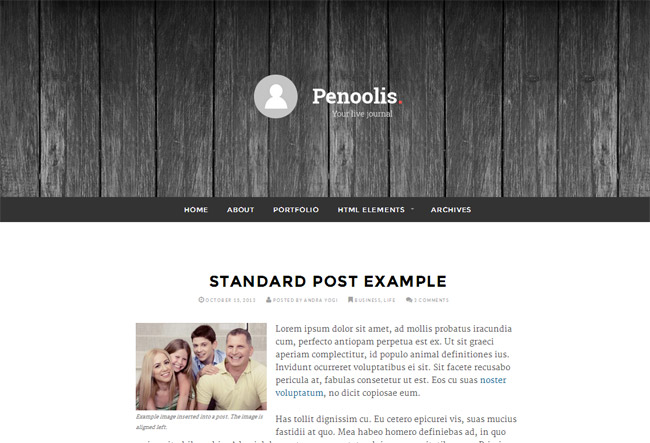 Penoolis WordPress Theme