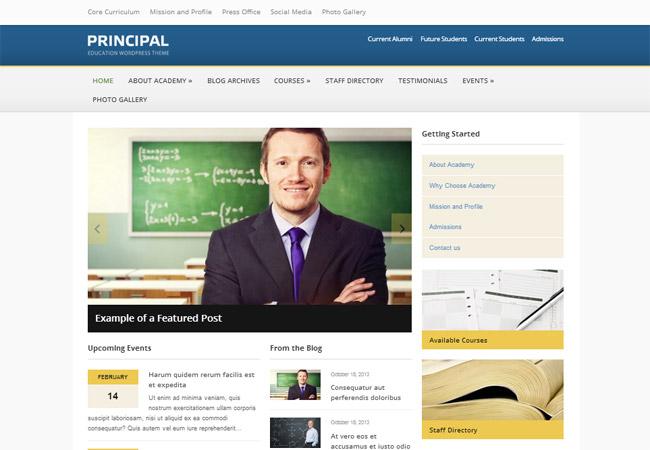Principal WordPress Theme