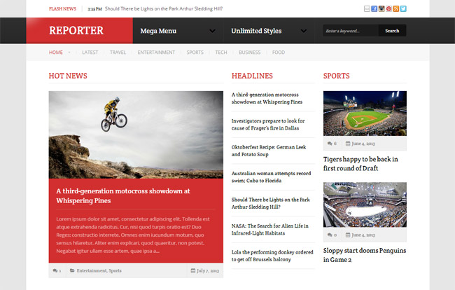 Reporter WordPress Theme