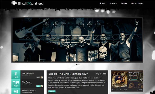 Rock Band WordPress Theme
