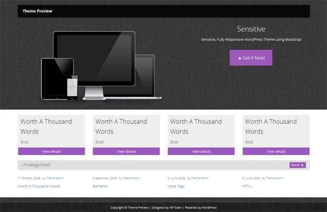 Sensitive WordPress Theme