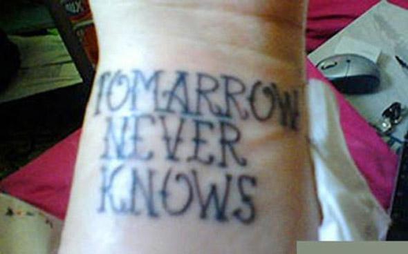 1982 Regional Spelling Bee Champion Tattoo