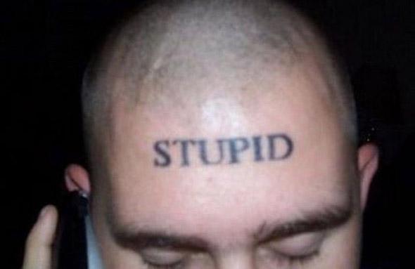 Too Stupid Tattoo