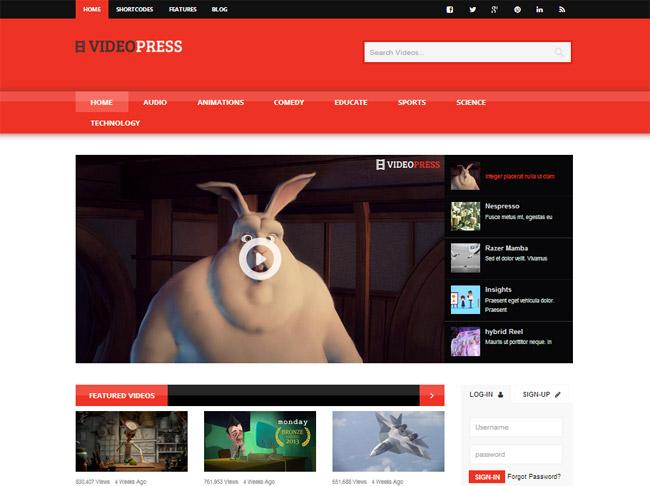 VideoPress WordPress Theme