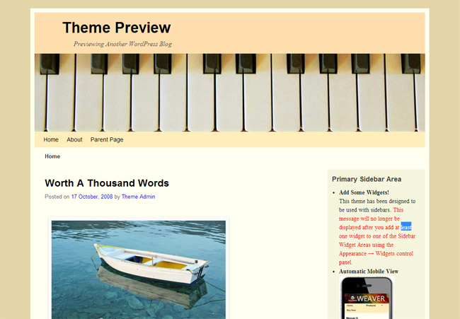 Weaver II WordPress Theme
