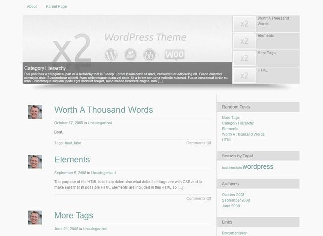 x2 WordPress Theme