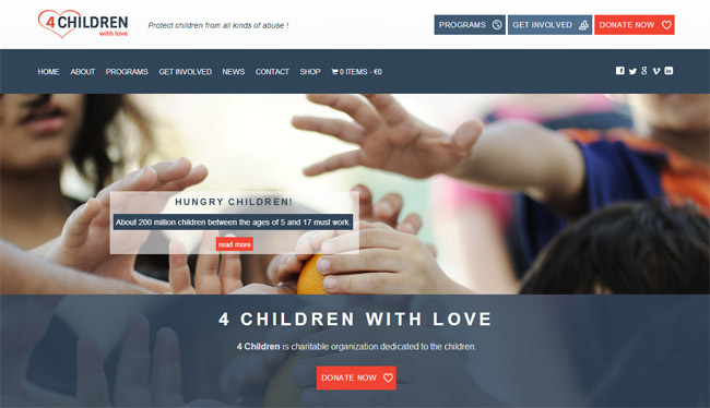 4 Children with Love WordPress Theme