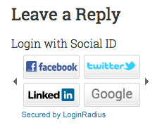 Leave a Comment Using Login Radius