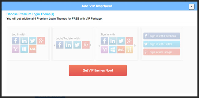 Login Radius VIP Interface