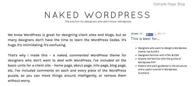 Naked WordPress Theme