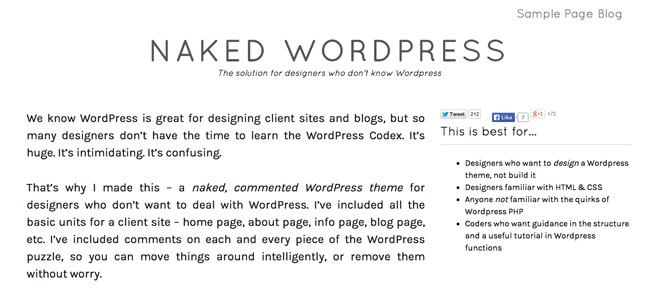 Naked WordPress Theme